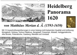 Matthäus Merian Heidelberg Panorama 1620 (Wandkalender 2020 DIN A2 quer) von Liepke,  Claus