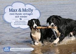Max und Molly – zwei Hunde vertragen sich wieder. Kamishibai Bildkartenset. von Wieber,  Monika