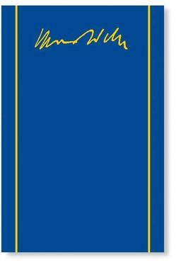 Max Weber Gesamtausgabe / Max Weber-Gesamtausgabe von Judenau,  Cristof, Mommsen,  Wolfgang J, Nau,  Heino H., Scharfen,  Klaus, Tiefel,  Marcus, Weber,  Max