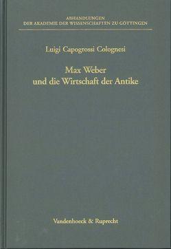 Max Weber und die Wirtschaft der Antike von Capogrossi-Colognesi,  Luigi