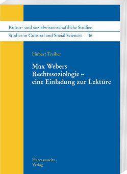 Max Webers Rechtssoziologie – eine Einladung zur Lektüre von Treiber,  Hubert
