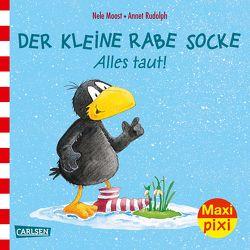 Maxi Pixi 238: Der kleine Rabe Socke: Alles taut! von Moost,  Nele, Rudolph,  Annet