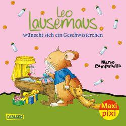 Maxi Pixi 256: VE 5 Leo Lausemaus wünscht sich ein Geschwisterchen (5 Exemplare) von Campanella,  Marco, Casalis,  Anna