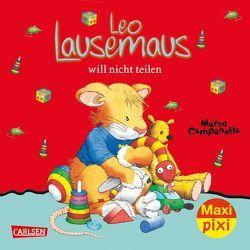 Maxi Pixi 257: VE 5 Leo Lausemaus will nicht teilen (5 Exemplare) von Campanella,  Marco, Casalis,  Anna