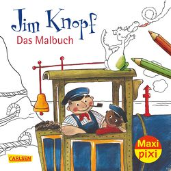 Maxi Pixi 269: VE 5 Jim Knopf Malbuch (5 Exemplare) von Dolinger,  Igor, Dölling,  Beate, Ende,  Michael, Tripp,  F J, Weber,  Mathias