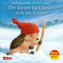 Maxi Pixi 287: VE 5 Der kleine Igel verirrt sich im Schnee (5 Exemplare) von Butler,  M Christina, Macnaughton,  Tina