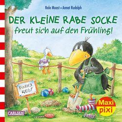 Maxi Pixi 290: VE 5: Der kleine Rabe Socke freut sich auf den Frühling (5×1 Exemplar) von Moost,  Nele, Rudolph,  Annet
