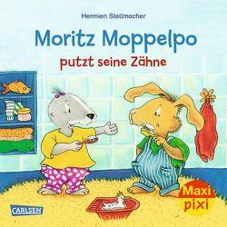 Maxi Pixi 294: Moritz Moppelpo putzt seine Zähne von Stellmacher,  Hermien
