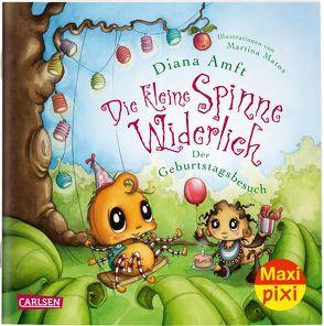 Maxi Pixi 312: VE 5 Die kleine Spinne Widerlich: Der Geburtstagsbesuch (5 Exemplare) von Amft,  Diana, Matos,  Martina