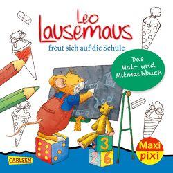 Maxi Pixi 317: VE 5 Leo Lausemaus freut sich auf die Schule: Das Mal- und Mitmachbuch (5 Exemplare) von Campanella,  Marco