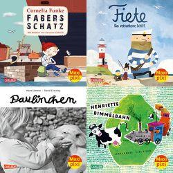 Maxi-Pixi-4er-Set 66: Bilderbuch-Schätze (4×1 Exemplar) von Ahoiii Entertainment UG, Crossley,  David, Funke,  Cornelia, Göhlich,  Susanne, Krüss,  James, Limmer,  Hans, Stich,  Lisl
