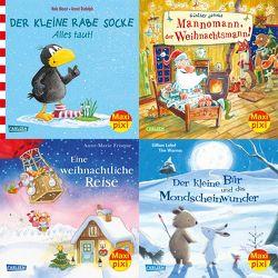 Maxi-Pixi-4er-Set 67: Winterzeit mit Maxi Pixi (4×1 Exemplar) von Chapman,  Linda, Frisque,  Anne-Marie, Himmel,  Anna, Jakobs,  Günther, Moost,  Nele, Rudolph,  Annet, Warnes,  Tim