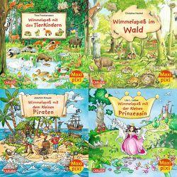 Maxi-Pixi-4er-Set 68: Wimmelbilder 5 (4×1 Exemplar) von Frankenstein,  Tina, Henkel,  Christine, Krause,  Joachim, Leiber,  Lila L.