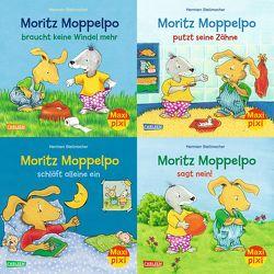 Maxi-Pixi-4er-Set 71: Moritz Moppelpo (4×1 Exemplar) von Stellmacher,  Hermien