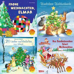 Maxi-Pixi-4er-Set 73: Leise rieselt der Schnee (4×1 Exemplar) von Flad,  Antje, Krämer,  Marina, McKee,  David, Nettingsmeier,  Simone, Scharff-Kniemeyer,  Marlis, Thabet,  Edith