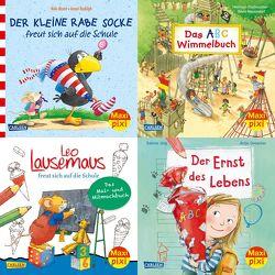 Maxi-Pixi-4er-Set 77: Endlich Schulkind! (4×1 Exemplar) von Drescher,  Antje, Joerg,  Sabine, Moost,  Nele, Neuendorf,  Silvio, Rudolph,  Annet, Stellmacher,  Hermien