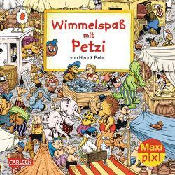 Maxi Pixi 170: VE 5 Wimmelspaß mit Petzi (5 Exemplare) von Rehr,  Henrik, Sanderhage,  Per
