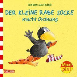 Maxi Pixi 232: Der kleine Rabe Socke macht Ordnung von Moost,  Nele, Rudolph,  Annet