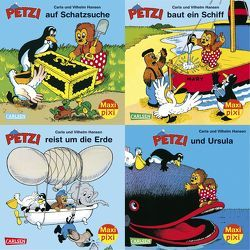 Maxi-Pixi-Serie Nr. 34: 4er Bundle: Petzi von Hansen,  Carla, Hansen,  Vilhelm