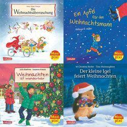 Maxi-Pixi-Serie Nr. 48: 4er Bundle: Fröhliche Weihnachten mit Maxi Pixi von Blau,  Clara, Boehme,  Julia, Butler,  M Christina, Frisque,  Anne-Marie, Krauss,  Susanne, Macnaughton,  Tina, Müller,  Hildegard