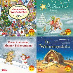Maxi-Pixi-4er-Set 53: Warten auf den Weihnachtsmann (4×1 Exemplar) von Beutler,  Dörte, Blau,  Clara, Dahle,  Stefanie, Frisque,  Anne-Marie, Heitmann,  Michaela, Krause,  Joachim