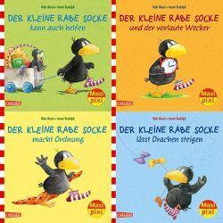 Maxi-Pixi-4er-Set 57: Rabe Socke (4×1 Exemplar) von Moost,  Nele, Rudolph,  Annet