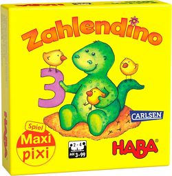 """Maxi-Pixi-Spiel """"made by haba"""" VE 3: Zahlendino (3 Exemplare) von HABA"""