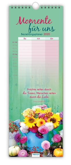 """Maxi-Streifenkalender """"Momente für uns"""" 2020"""