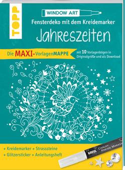 Maxi-Vorlagenmappe Fensterdeko mit dem Kreidemarker – Jahreszeiten. Inkl. Original Kreul-Kreidemarker, Sticker und Glitzer-Steinchen von Schwab,  Ursula