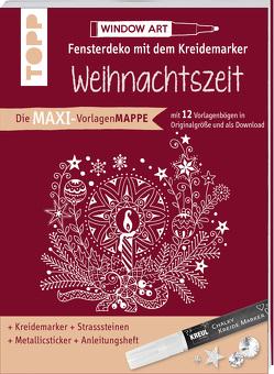 Maxi-Vorlagenmappe Fensterdeko mit dem Kreidemarker – Weihnachtszeit. Inkl. Original Kreul-Kreidemarker, Sticker und Glitzer-Steinchen von Schwab,  Ursula