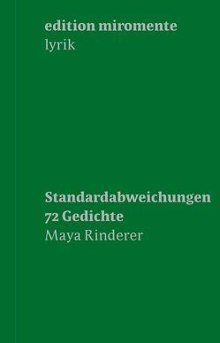 Maya Rinderer. Standardabweichungen. von Rinderer,  Maya