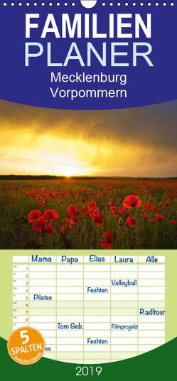 Mecklenburg – Vorpommern – Familienplaner hoch (Wandkalender 2019 , 21 cm x 45 cm, hoch) von von Oltersdorff- Kalettka,  Jens