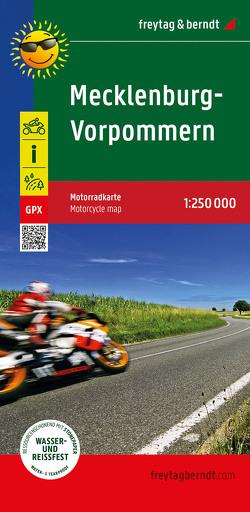 Mecklenburg-Vorpommern, Motorradkarte 1:250.000, freytag & berndt