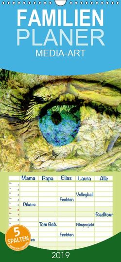 MEDIA-ART Der Kunstkalender – Familienplaner hoch (Wandkalender 2019 <strong>21 cm x 45 cm</strong> hoch) von Lauer,  Bernd