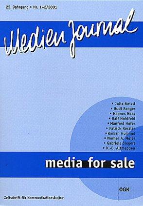 Media for Sale von Medien Journal 1/2 2001