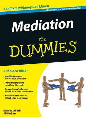 Mediation für Dummies von Oboth,  Monika, Weckert,  Al