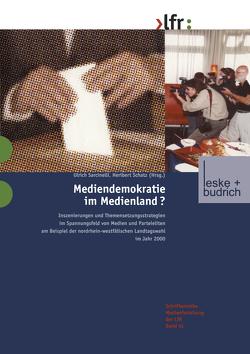 Mediendemokratie im Medienland von Sarcinelli,  Ulrich, Schatz,  Heribert