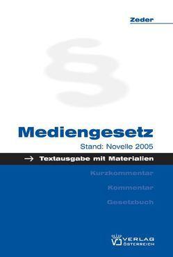 Mediengesetz von Zeder,  Fritz