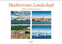 Mediterrane Landschaft digital in Szene gesetzt (Wandkalender 2020 DIN A2 quer) von Gödecke,  Dieter