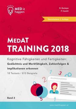 MEDithappen MedAT Training 2018, Band 2 von Boztepe,  Bedirhan, Casetti,  Pascal
