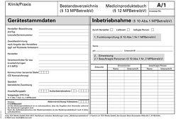 Medizinproduktebuch/ Bestandsverzeichnis von Böckmann,  Rolf Dieter