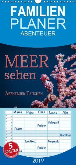 Meer sehen – Abenteuer Tauchen – Familienplaner hoch (Wandkalender 2019 , 21 cm x 45 cm, hoch) von Gödecke,  Dieter