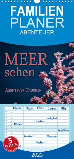 Meer sehen – Abenteuer Tauchen – Familienplaner hoch (Wandkalender 2020 , 21 cm x 45 cm, hoch) von Gödecke,  Dieter