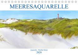 MEERESAQUARELLE (Tischkalender 2020 DIN A5 quer) von Meier,  Wiebke