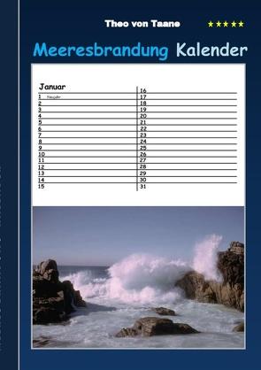 Meeresbrandung – Kalender von von Taane,  Theo