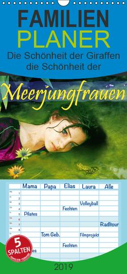 Meerjungfrauen – Familienplaner hoch (Wandkalender 2019 , 21 cm x 45 cm, hoch) von Brunner-Klaus,  Liselotte