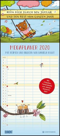 Mega-Familienkalender 2020 Reim dich durchs Jahr – Von Daniela Kulot – Mit 6 Spalten – Familienplaner mit 2 Stundenplänen und Ferientabelle – Hochformat 30,0 x 68,5 cm von DUMONT Kalenderverlag, Kulot,  Daniela