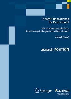 Mehr Innovationen für Deutschland von Spath,  Dieter