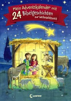 Mein Adventskalender mit 24 Bibelgeschichten zur Weihnachtszeit von Benn,  Amelie, Hochmann,  Carmen