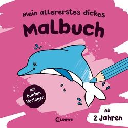 Mein allererstes dickes Malbuch (Delfin) von Flad,  Antje, Penner,  Angelika